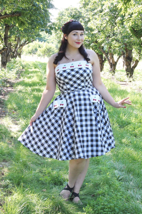 gingham cherry dress