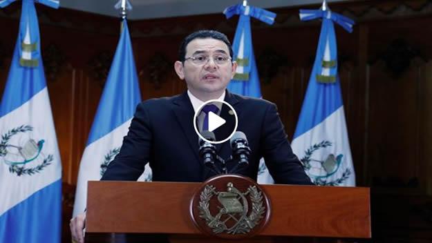 Mensaje del Presidente Jimmy Morales sobre la decisión de expulsar a Ivan Velasquez del país