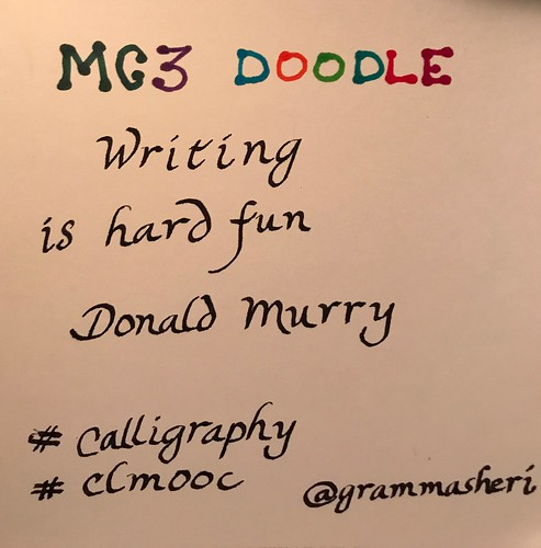 Clmooc Doodle Calligraphy | by teach.eagle