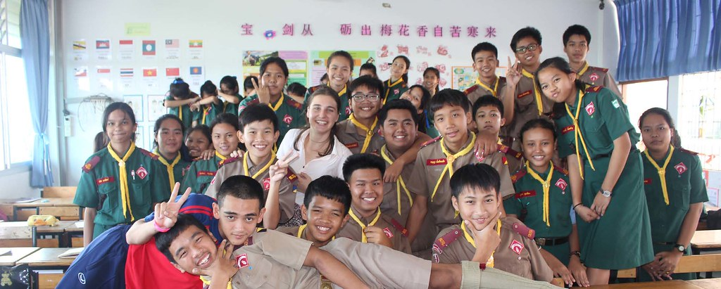 group of exchange students
