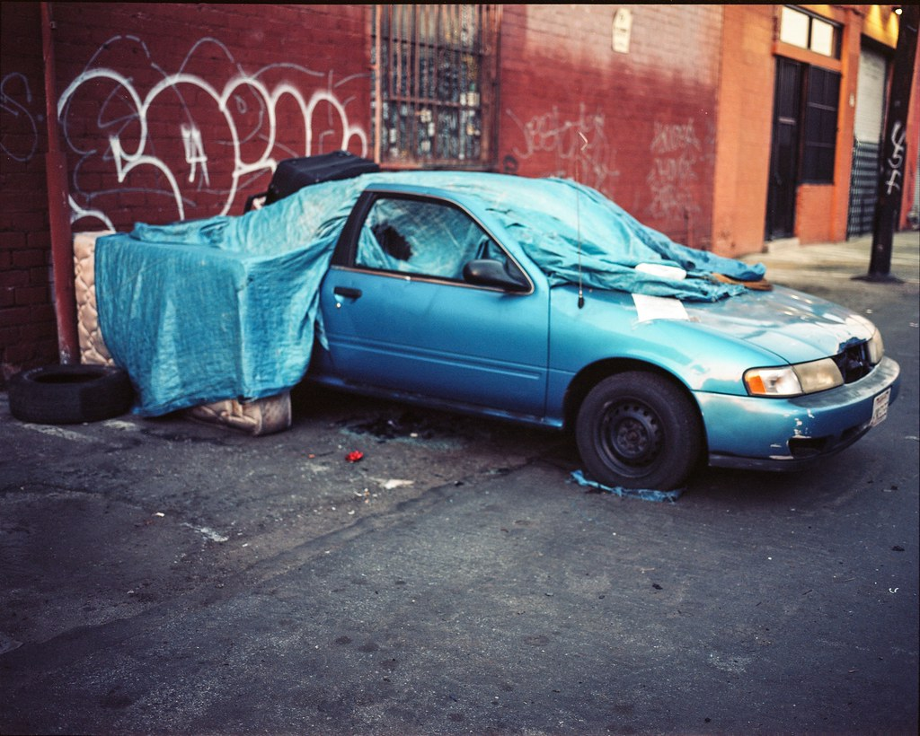 Blue car mattress tarp | by ADMurr