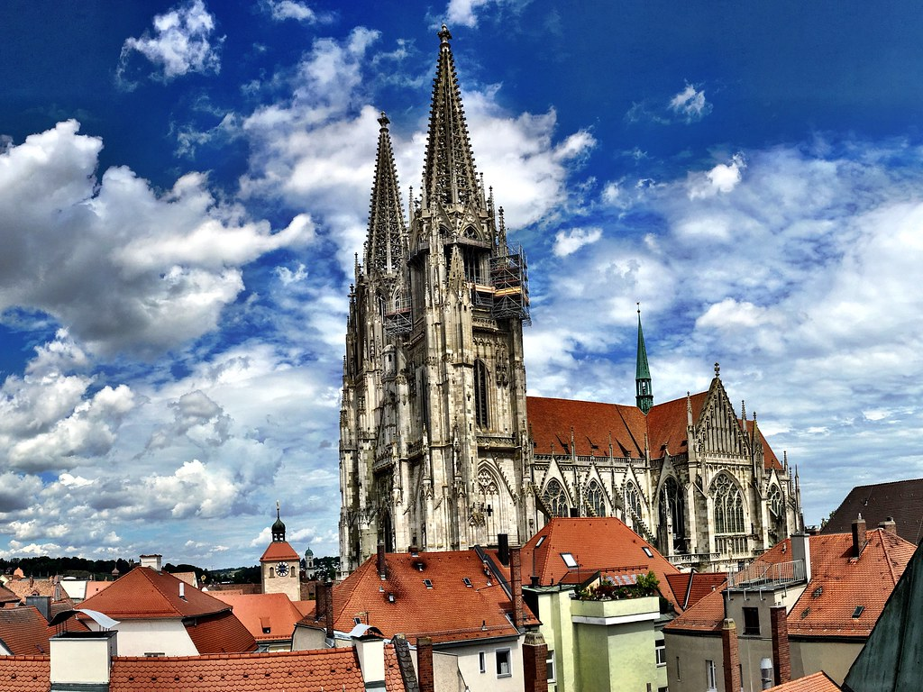 above the roofs of regensburg eng and again the view with flickr. Black Bedroom Furniture Sets. Home Design Ideas