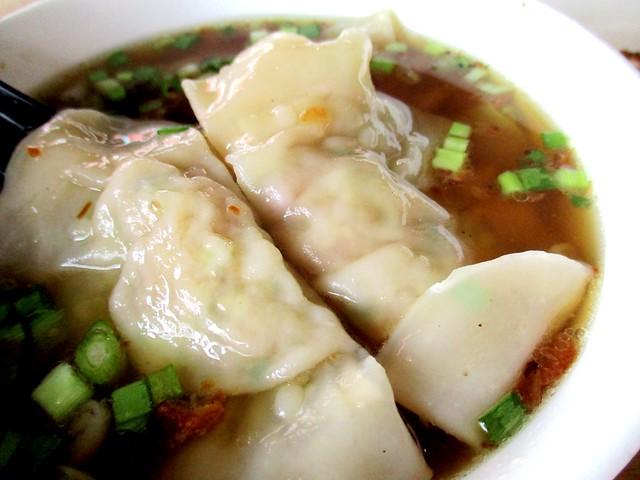 Mitsu dumplings in miso soup