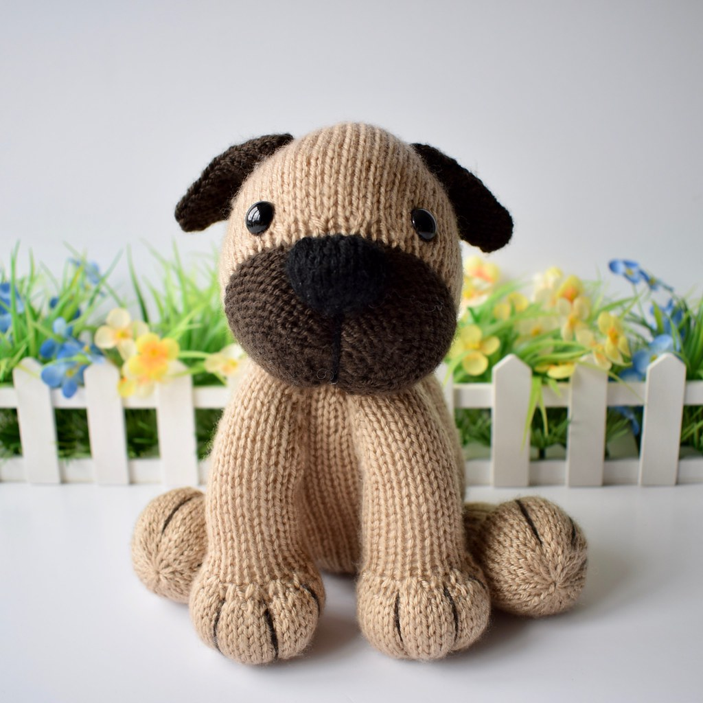 Dera-Dogs | Dudley the Pug Dog knitting patterns designed by… | Flickr