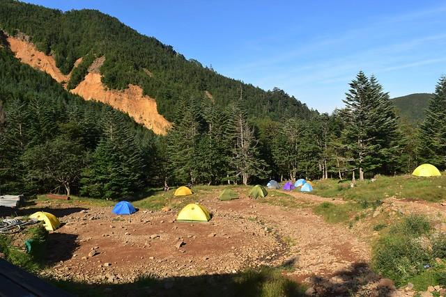 赤岳鉱泉のテント場