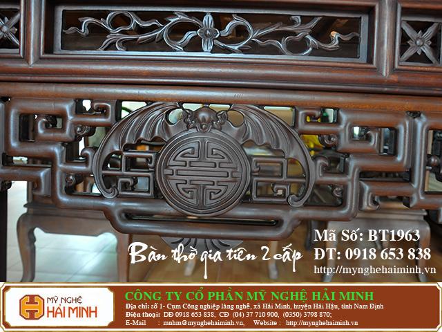 BT1963g  Ban Tho Gia Tien 2 cap  do go mynghehaiminh