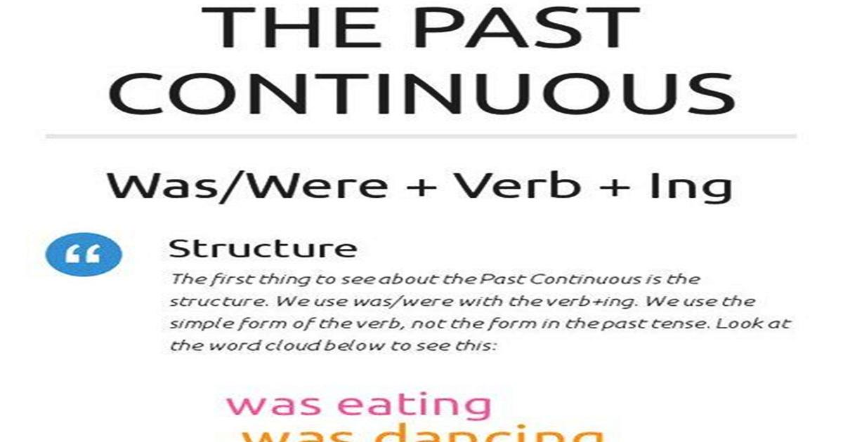 The Past Continuous Tense in English 5