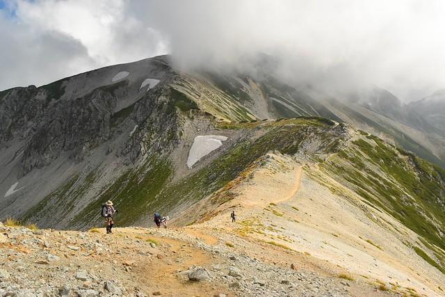 北アルプス・立山~別山の稜線