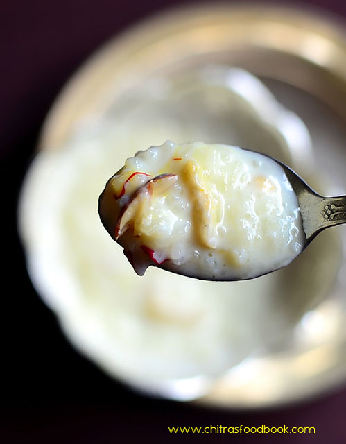 Rice kheer recipe without condensed milk
