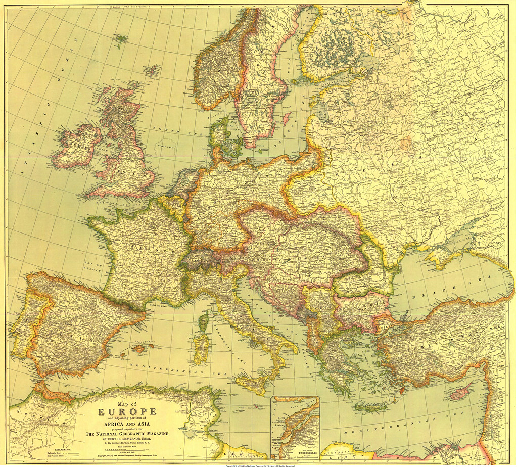 Borders of the European countries before the Great War (1915)