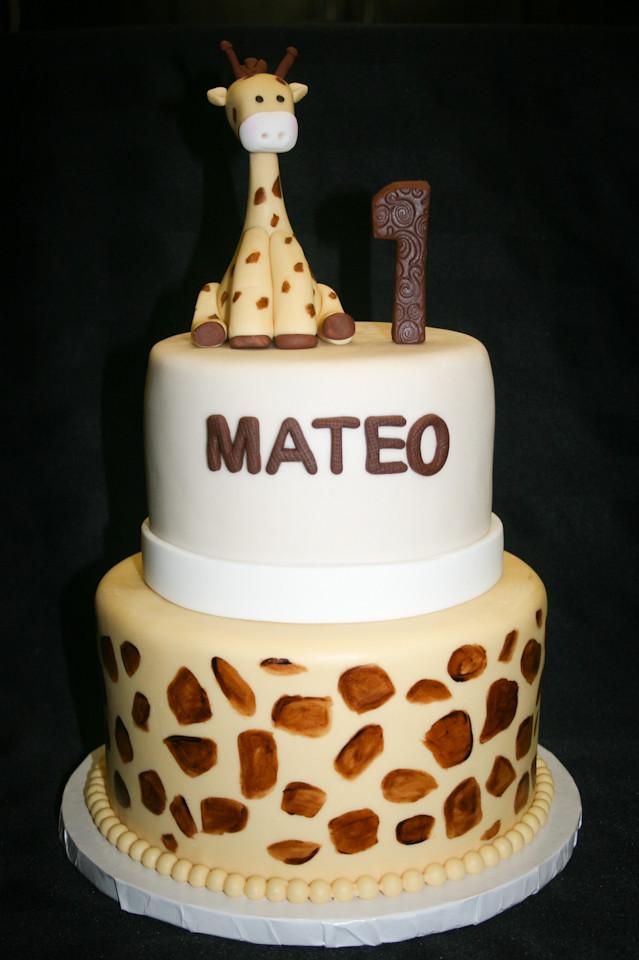 Giraffe 1st Birthday Cake aliciascupcakesandcakesgiraffe Flickr