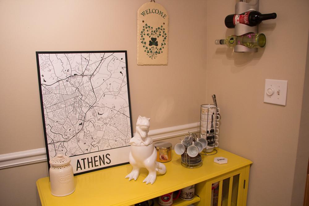 Athens, GA Modern Map Art Streetmap Poster