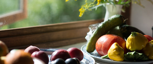 Vegetables in Kitchen Window Sill | by goingslowly