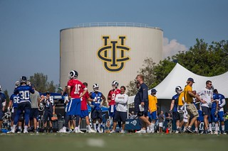 Photo of our work at UC Irvine earlier this year -- foreground: LA Rams Training Camp 2017 at the campus | by MrBigCity