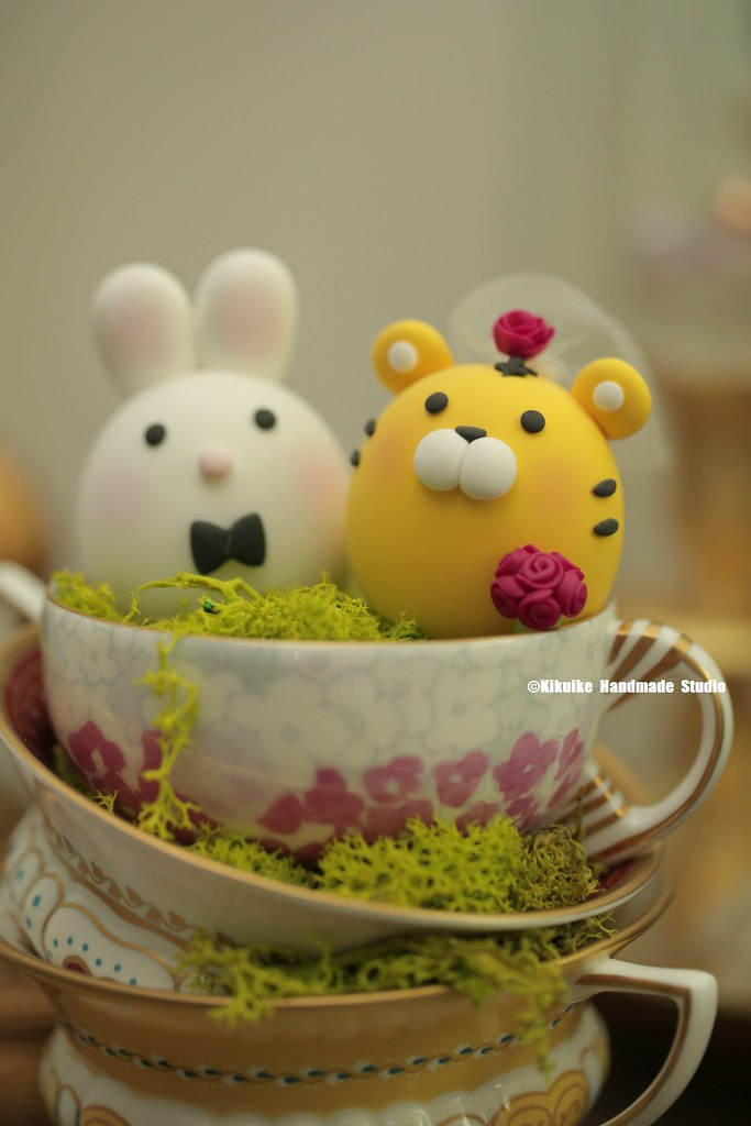 Tiger and rabbit wedding cake topper---Chinese Zodiac Moch… | Flickr