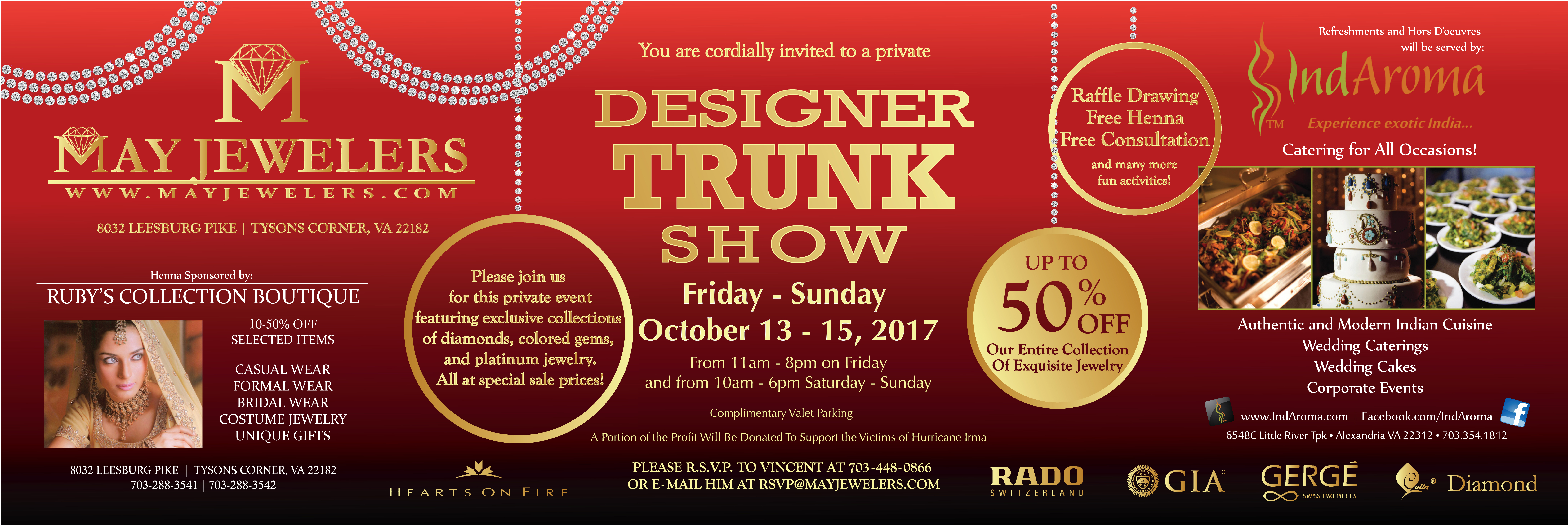 May Jewelers Designer Trunk Show Fall 2017