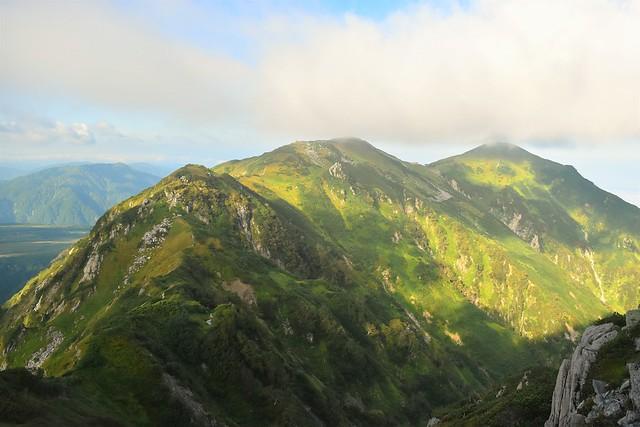 北アルプス・大日岳への稜線