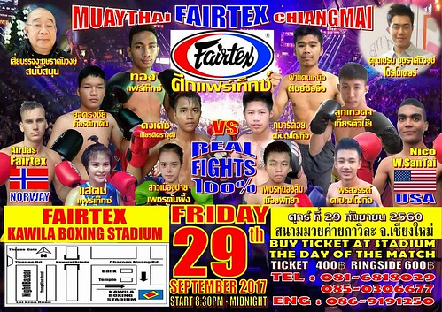 Brochure Kawila Boxing Stadium Chiang Mai Thailand 2