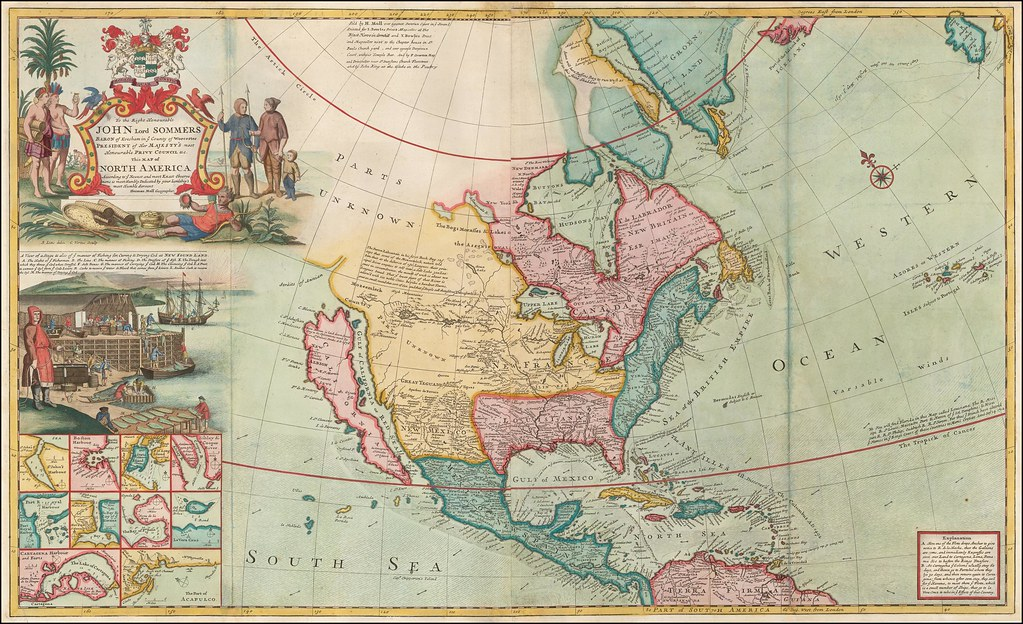Map of North America [Codfish map] (1720)