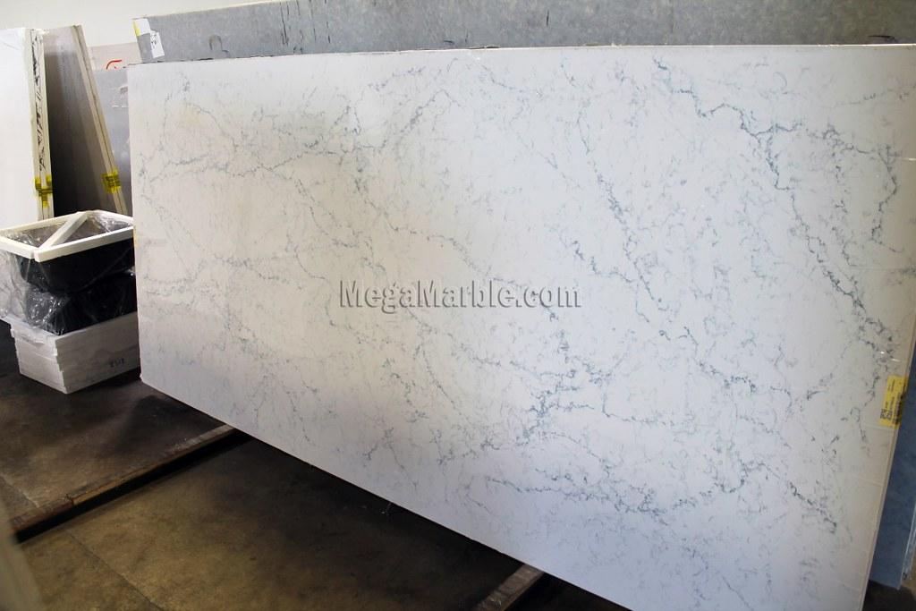 White Attica Caesarstone Quartz Countertops Slab 2 Flickr