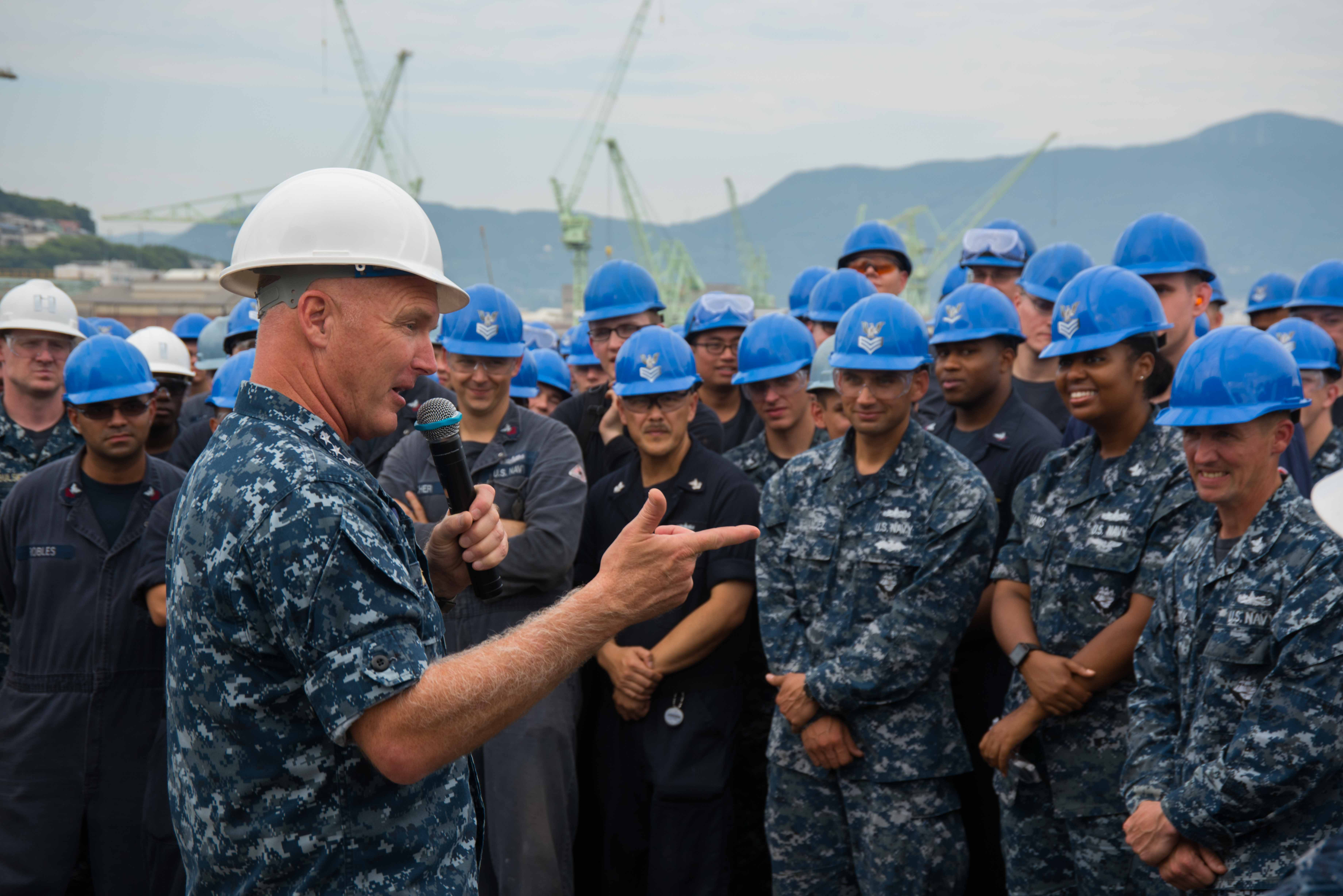 Naval Surface Force Commander Visits Sasebo Based Ships
