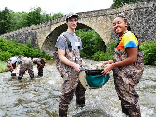 Photo of students participating in the 2017 Natural Resources Career Camp