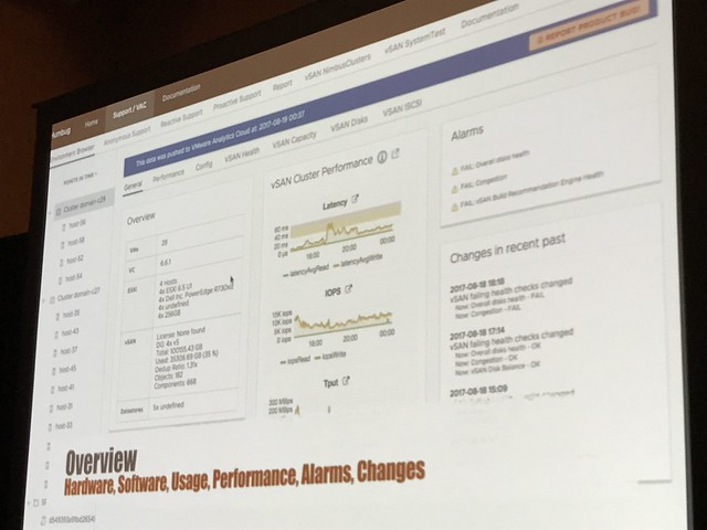VMworld #STO1378 - vSAN Management Today and in the Future