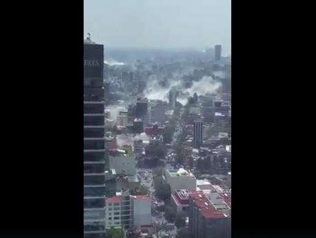 Potente temblor sacudió a México