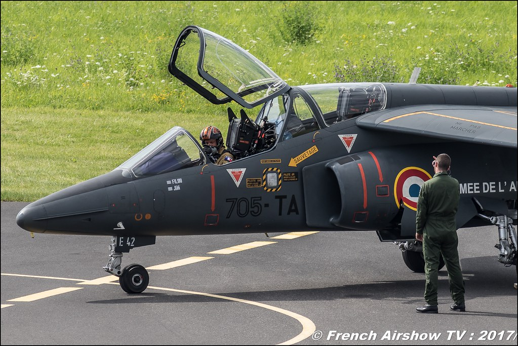 alphajet solo display 2017 - armée de l'air , Tator ,JPO Aurillac 2017 , Meeting Aerien Aeroclub du cantal 2017