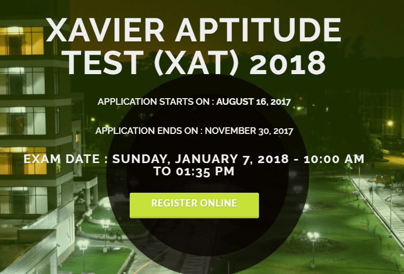 XAT 2018 Dates Announced; Apply Online from August 16, 2017