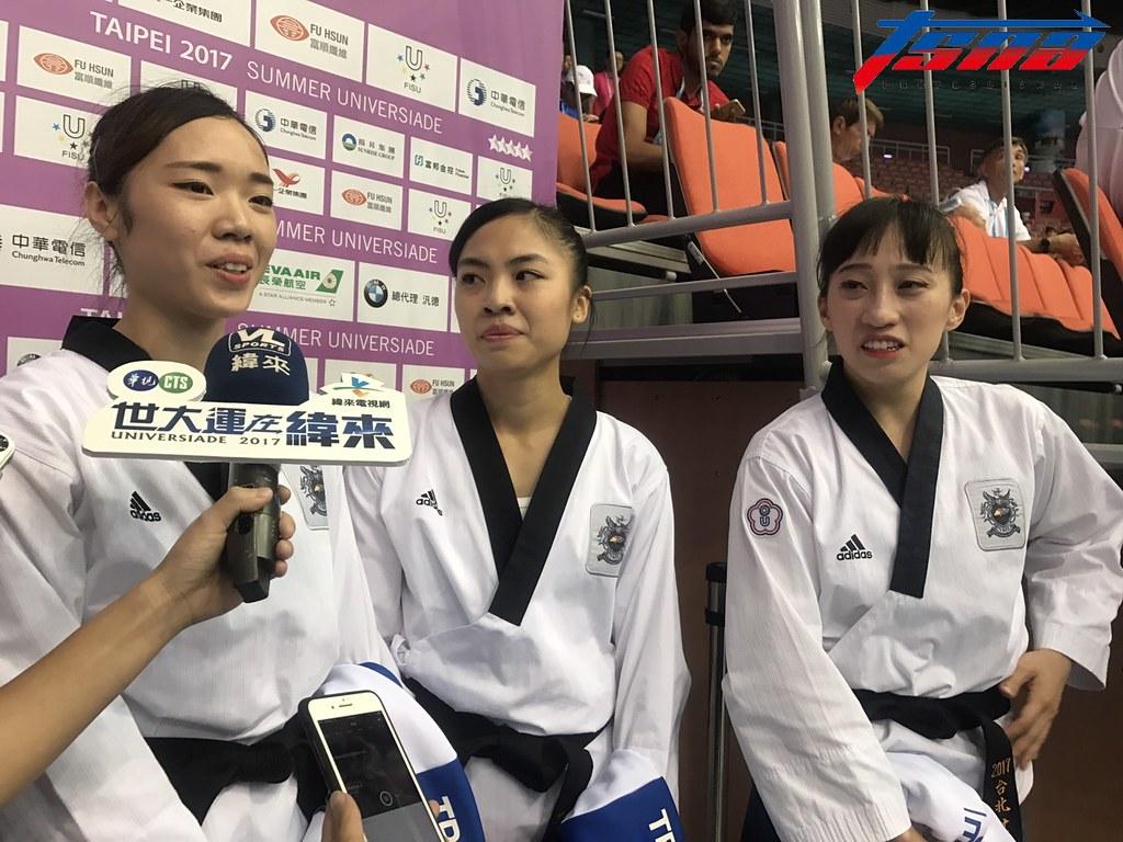 李映萱、陳湘婷與陳以瑄為台灣再奪銀牌。(李心筠/攝)