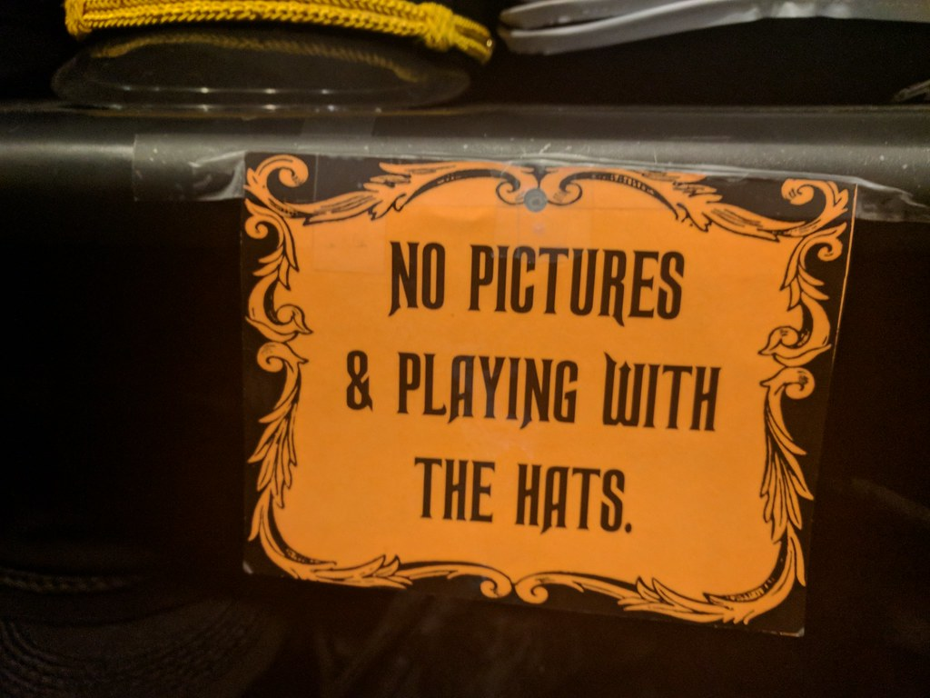 no pictures and playing with the hats, sign, halloween tow… | flickr