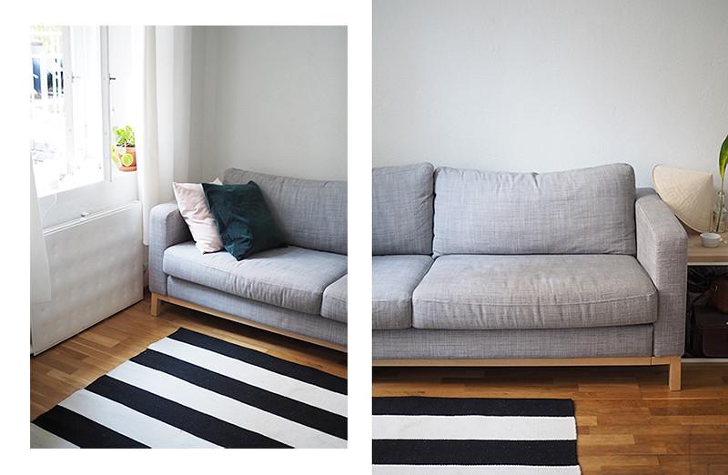 Koti ennen ja jälkeen maton vaihdon