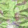 Carte du massif du San Pedrone du col de Pratu à Campidonicu