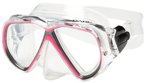 bare duo compact diving mask pink
