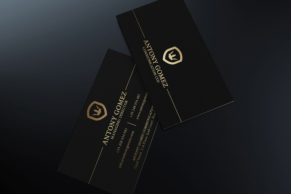 Gold Business Card Template | DOWNLOAD THE TEMPLATE HERE: cr… | Flickr