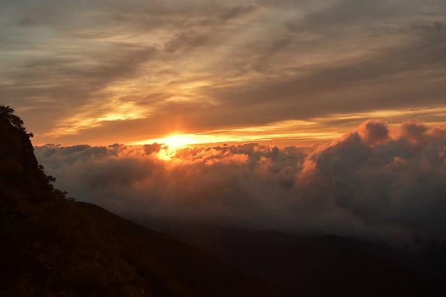 八ヶ岳登山 雲海とご来光