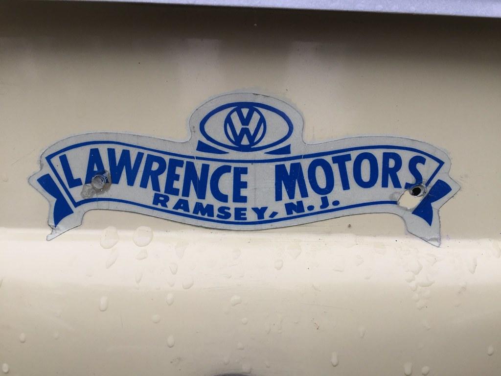 Vintage VW dealer decal. | Lawrence Motors, Ramsey, NJ. Look… | Flickr