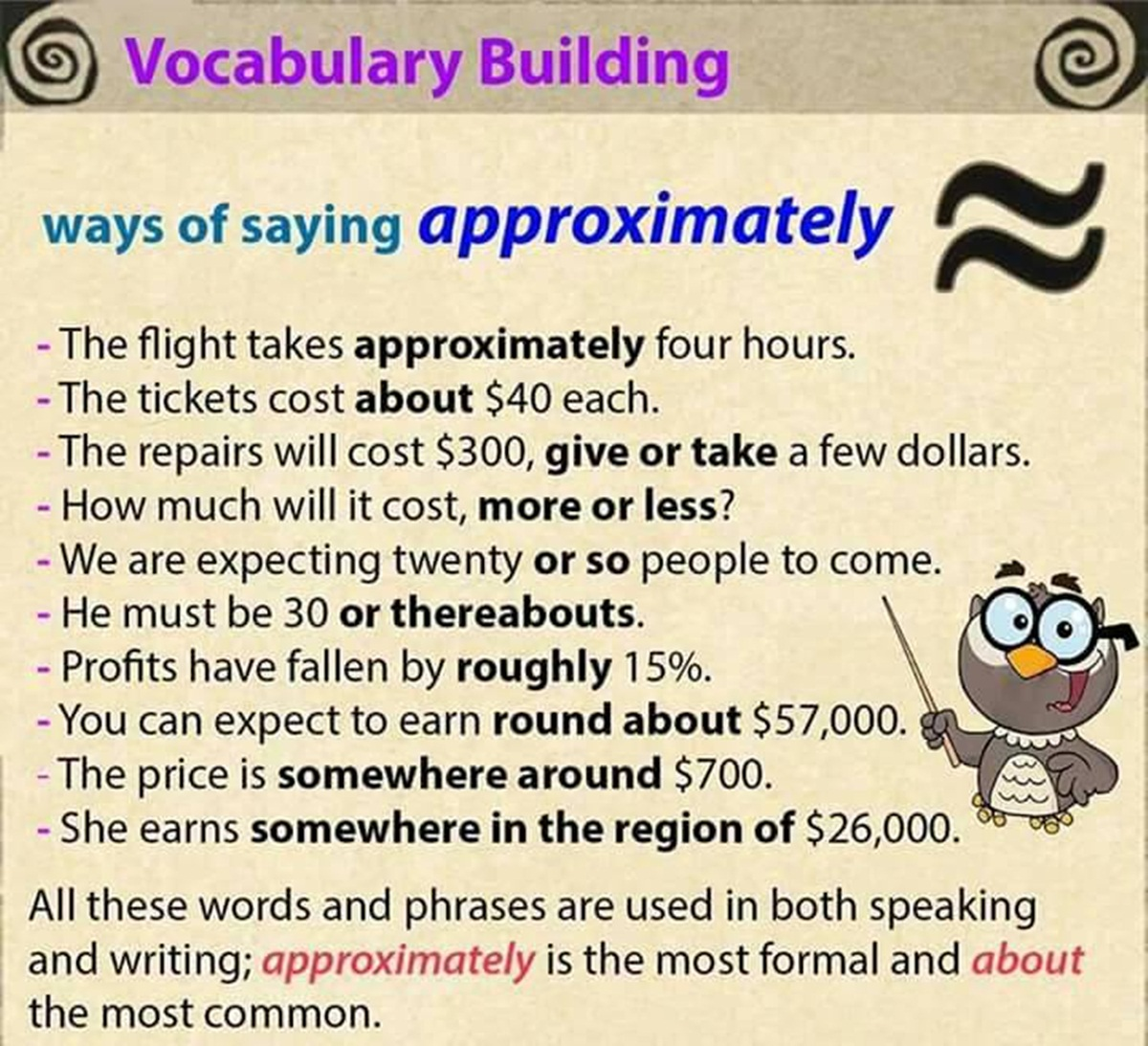 "Other Ways to Say ""Approximately"" 3"