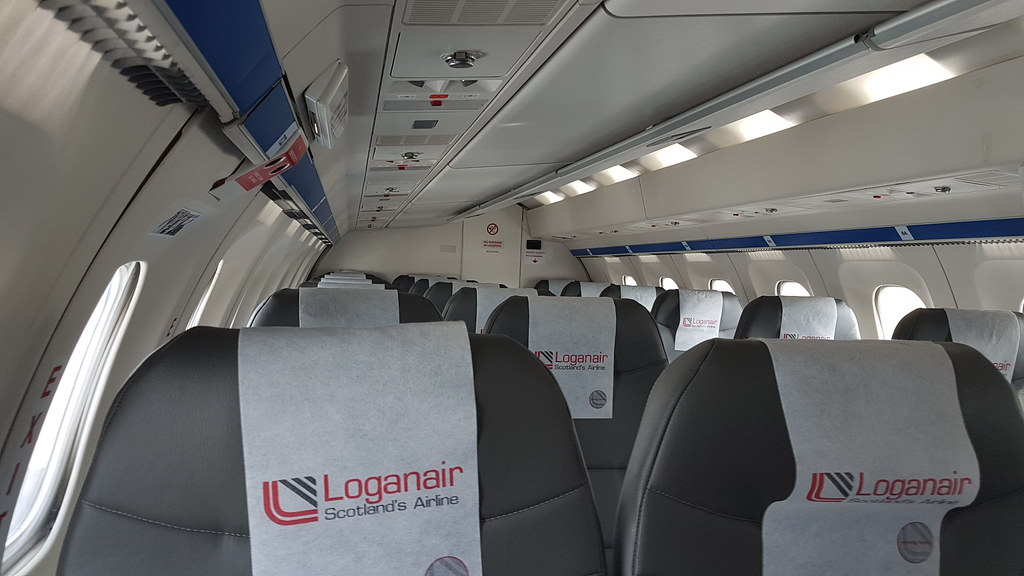 Interior Of G Lgnu Loganair Saab 340 At Inverness Pity