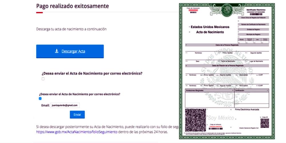 Ahora ya puedes imprimir tu acta de nacimiento   Presencia.MX