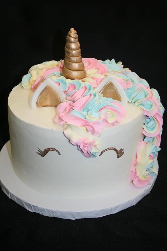 Unicorn Buttercream 2nd Birthday Cake