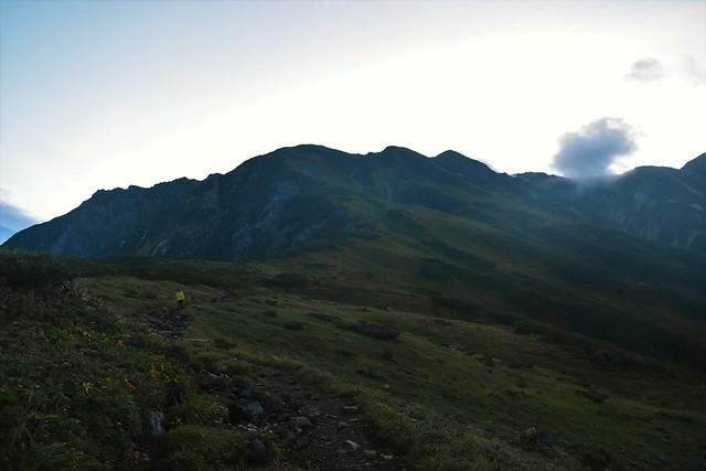 奥大日岳~別山の稜線