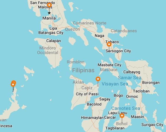 Nuestro itinerario por Filipinas que seguimos para ver y hacer lo mejor en este país