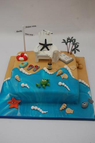 Beach Scene Cake Beautiful Birthday Cakes