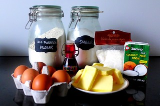 mise en place coconut cake | by Tweety Golez