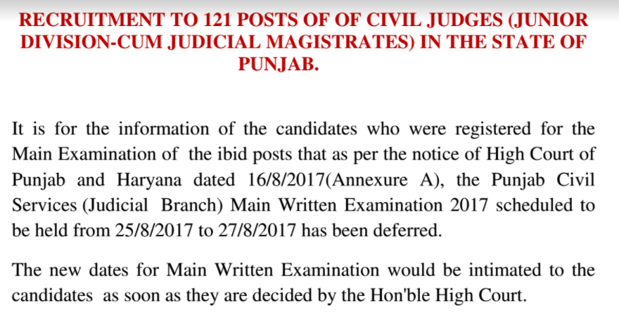 PPSC Civil Judge 2017 Main Exam