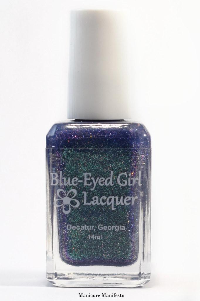 Blue mulichrome polish