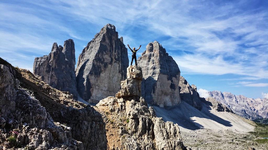 Climber at the Tre Cime di Lavaredo or Drei Zinnen, Italia… | Flickr