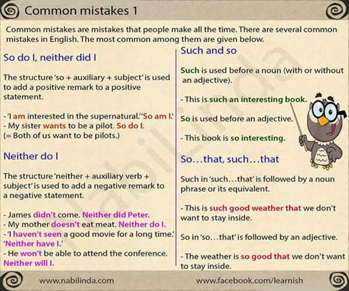 Common Mistakes in English Grammar 3